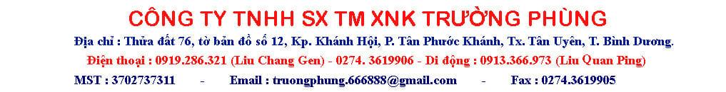 công ty tnhh sx tm xnk Trường Phùng